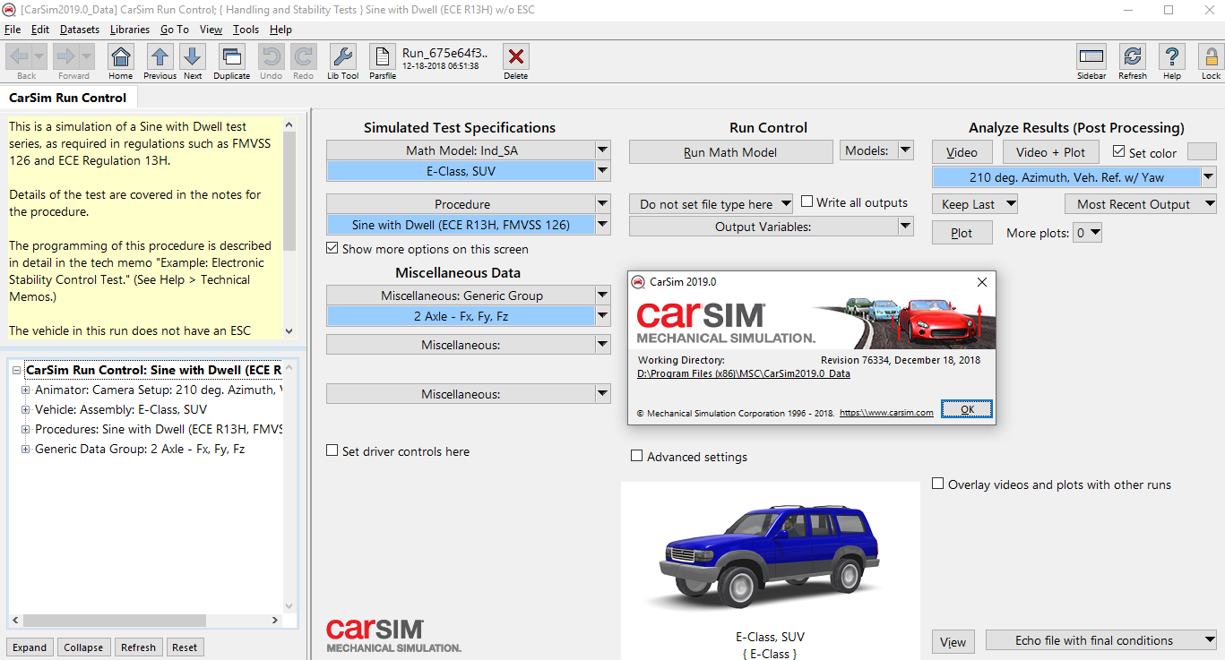 Carsim 2019 - Mechanical Simulation-Software training,tutorials